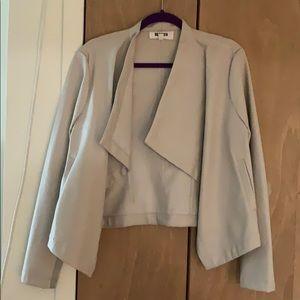 BB Dakota leather cropped jacket size large